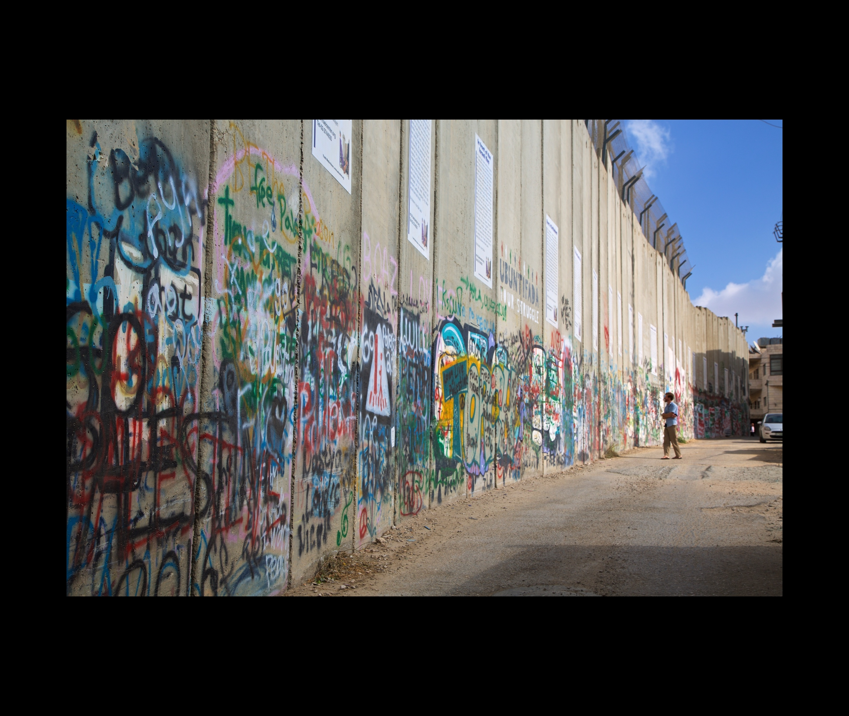 Wall, Bethlehem - Placed to cut off Palestinian access to Jerusalem and Rachel's tomb 56419